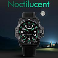 levne -Pánské Sportovní hodinky Módní hodinky Náramkové hodinky Křemenný Silikon Černá Voděodolné LED Červená Zelená Modrá
