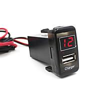 Недорогие Запчасти для мотоциклов и квадроциклов-машина 5v 2.1a USB порт приборной панели телефона зарядное устройство вольтметр для Тойота Vigo отличного