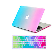 """2 في 1 قوس قزح الملونة الكاملة حالة الجسم + غطاء لوحة المفاتيح لماك بوك اير 11 """"الموالي 13"""" / 15 """""""