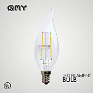 E12 LED-kaarslampen B 2 COB ≥200 lm Warm wit 2700 K Dimbaar Decoratief AC 110-130 V