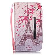 Для Кейс для  Samsung Galaxy Бумажник для карт / Кошелек / со стендом / Флип Кейс для Чехол Кейс для Эйфелева башня Искусственная кожа