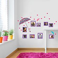 billige indretning til hjemmet-Tilfældige farver-Plastik-Vægklistermærke