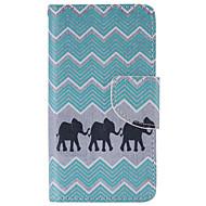 For Sony etui / Xperia Z5 Pung / Kortholder / Med stativ / Flip Etui Heldækkende Etui Elefant Hårdt Kunstlæder for SonySony Xperia X