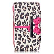Для Кейс для  Samsung Galaxy Бумажник для карт / со стендом / Флип / С узором / Магнитный Кейс для Чехол Кейс для Леопардовый принт