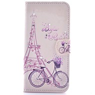 Для Кейс для  Samsung Galaxy Бумажник для карт / Стразы / со стендом / Флип / С узором / Магнитный Кейс для Чехол Кейс для Эйфелева башня