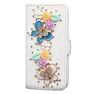 Кейс для Назначение SSamsung Galaxy Samsung Galaxy S7 Edge Кошелек Бумажник для карт Стразы со стендом Флип Чехол 3D в мультяшном стиле