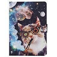 Для Кейс для  Samsung Galaxy Бумажник для карт / Кошелек / со стендом / Флип / С узором Кейс для Чехол Кейс для Кот Искусственная кожа