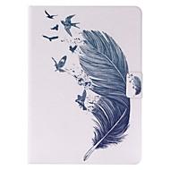 billige Etuier og covers til iPad-Etui Til iPad Air 2 Kortholder Med stativ Fuldt etui Fjer PU Læder for iPad Air 2