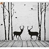 abordables Adhesivos Decorativos-Abstracto Paisaje De moda Formas Fantasía Pegatinas de pared Calcomanías de Aviones para Pared Calcomanías Decorativas de Pared, Vinilo