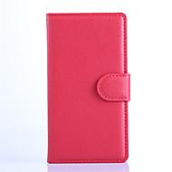 voordelige Telefoon hoesjes-Voor Nokia hoesje Kaarthouder / Portemonnee / met standaard hoesje Volledige behuizing hoesje Effen kleur Hard PU-leer NokiaNokia Lumia