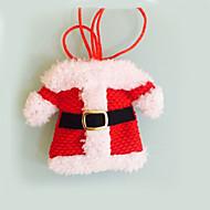 2 piezas decoraciones de Navidad felices de santa cubiertos titulares bolsillos cena festas decoración