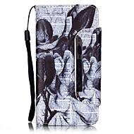 Недорогие Чехлы и кейсы для Galaxy A3(2016)-Кейс для Назначение SSamsung Galaxy Кейс для  Samsung Galaxy Бумажник для карт со стендом Флип Магнитный С узором Чехол Цветы Кожа PU для