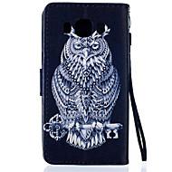 Для Кейс для  Samsung Galaxy Кошелек / Бумажник для карт / со стендом / Флип Кейс для Чехол Кейс для Сова Искусственная кожа SamsungJ5