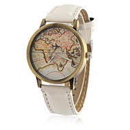 Недорогие Мужские часы-Муж. Наручные часы Модные часы Кварцевый / Повседневные часы PU Группа Винтаж На каждый день World Map Pattern Cool Черный