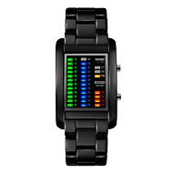 Недорогие Фирменные часы-Муж. Наручные часы Уникальный творческий часы Цифровой 30 m Защита от влаги Календарь LED сплав Группа Цифровой Черный / Серебристый металл - Черный Серебряный Два года Срок службы батареи
