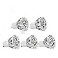 5W GU10 LED Spotlight MR16 1 leds Dimmable Cold White 400-450lm 6000-6500K AC 220-240V