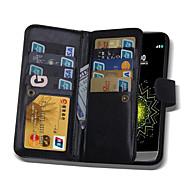 Для Кейс для LG Бумажник для карт / Кошелек / Флип / Магнитный Кейс для Чехол Кейс для Один цвет Твердый Искусственная кожа LGLG G5 / LG