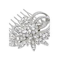 結婚式のパーティーの女性の宝石のための銀クリスタルパールヘアコーム