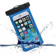お買い得  携帯電話ケース-ケース 用途 iPhone 6s Plus / iPhone 6 Plus / iPhone 6s 防水 / ウィンドウ付き ポーチ ソリッド ソフト PC のために iPhone SE / 5s