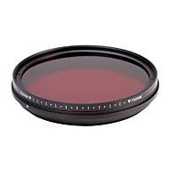 fotga® todo-en-uno pase por rayos infrarrojos filtro de la lente de rayos X 530 nm-750 nm ajustable 46/49 / 52 / 55mm