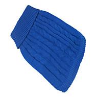 お買い得  -犬 セーター 犬用ウェア ソリッド ダークブルー / グリーン / ピンク 混合材 コスチューム ペット用
