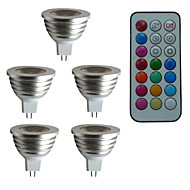 abordables Focos LED-3W 300 lm GU5.3(MR16) Focos LED MR16 1 leds LED de Alta Potencia Regulable Decorativa Control Remoto RGB AC 12V DC 12V