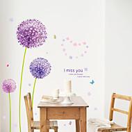 povoljno -Pejzaž Romantika Cvjetnih Botanički Zid Naljepnice Zidne naljepnice Dekorativne zidne naljepnice, PVC Početna Dekoracija Zid preslikača