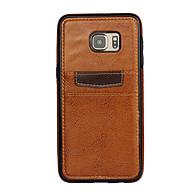 Недорогие Чехлы и кейсы для Galaxy S6 Edge Plus-Для Кейс для  Samsung Galaxy Бумажник для карт Кейс для Задняя крышка Кейс для Один цвет PC Samsung S6 edge plus / S6 edge / S6
