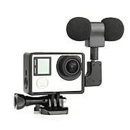 gładka Rama Standardowa rama 3,5 mm mikrofon Styl MIni Ochrona przeciwkurzowa Dla Action Camera Gopro 5 Gopro 4 Gopro 4 Black Gopro 3