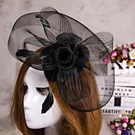 abordables Tocados-flor de la pluma de la joyería del pelo del sombrero velo fascinator para la fiesta de la boda