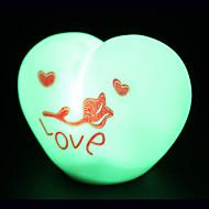 criativa amor de mudança de cor da luz colorida LED noite