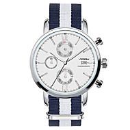 SINOBI Muškarci Ručni satovi s mehanizmom za navijanje Kvarc Kalendar Kronograf Vodootpornost Nehrđajući čelik Grupa Plava