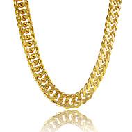 Hombre Collares de cadena Forma de Círculo Forma de Línea Chapado en Plata Chapado en Oro Oro Legierung Personalizado joyería de disfraz