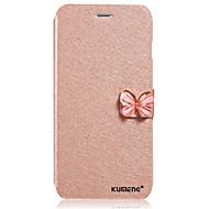 Для Кейс для  Samsung Galaxy Стразы / со стендом / Флип Кейс для Чехол Кейс для Один цвет Искусственная кожа SamsungJ7 / J5 / J1 / Grand