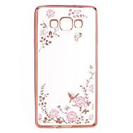 voordelige Galaxy A8 Hoesjes / covers-Voor Samsung Galaxy hoesje Strass / Beplating / Transparant / Patroon hoesje Achterkantje hoesje Bloem TPU Samsung A9 / A8 / A7 / A5