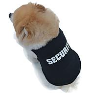お買い得  -ネコ 犬 Tシャツ 犬用ウェア 警察/軍隊 ブラック コットン コスチューム ペット用 男性用 女性用 コスプレ ファッション 結婚式