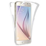 Недорогие Чехлы и кейсы для Galaxy S7-Кейс для Назначение SSamsung Galaxy Samsung Galaxy S7 Edge Прозрачный Чехол Сплошной цвет ТПУ для S7 edge S7 S6 edge S6