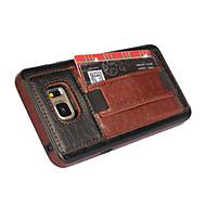 용 Samsung Galaxy Note 카드 홀더 / 스탠드 / 엠보싱 텍스쳐 케이스 뒷면 커버 케이스 기하학 패턴 인조 가죽 Samsung Note 5
