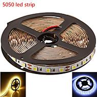 5m SMD5050 300LED caldo / colore bianco freddo luce di striscia (DC12V)