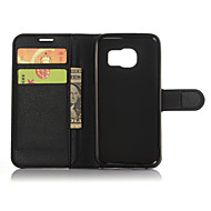 Недорогие Чехлы и кейсы для Galaxy S6 Edge Plus-Кейс для Назначение SSamsung Galaxy Samsung Galaxy S7 Edge Бумажник для карт Кошелек со стендом Флип Сплошной цвет для S8 Plus S8 S7 edge