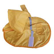 お買い得  -犬 レインコート 犬用ウェア イエロー ナイロン コスチューム ペット用 防水