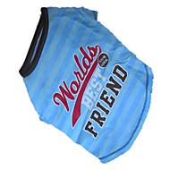 お買い得  -犬 Tシャツ 犬用ウェア ブルーと グリーン コットン コスチューム ペット用