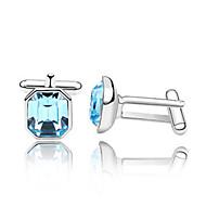 abordables Gemelos-Blanco Rosa Azul Claro Azul Real Gemelos Cristal Hombre Joyería de disfraz