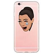 Недорогие Кейсы для iPhone 8 Plus-Кейс для Назначение Apple iPhone X / iPhone 8 / iPhone 6 Plus Ультратонкий / Прозрачный / С узором Кейс на заднюю панель Мультипликация Мягкий ТПУ для iPhone X / iPhone 8 Pluss / iPhone 8
