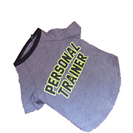 Hunde - Sommer - Baumwolle Grau - T-shirt - XXS / S / M