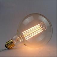 E27 AC220V-240v 40w Edison retro silkki hiili hehkulampun hehkulamput G125 suoraan lanka helmi