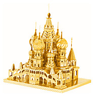 お買い得  おもちゃ & ホビーアクセサリー-ジグソーパズル 3Dパズル / メタルパズル ビルディングブロック DIYのおもちゃ 城 メタル ピンク / グリーン プラモデル&組み立ておもちゃ