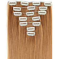 24 hüvelykes 7pcs/set Hosszú Synthetic Straight Clip A Hair Extensions 16 Clips - 16 színben kapható