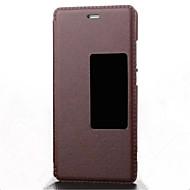 お買い得  携帯電話ケース-ケース 用途 HUAWEI P9 フルボディケース ソリッド ハード PUレザー のために Huawei