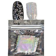 abordables Adhesivos para Uñas-1 pcs Puntas Completas de Uña Joyas de Uñas arte de uñas Manicura pedicura Encantador Abstracto / Dibujos / Boda / Joyería de uñas